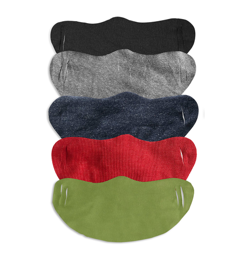 Assorted colors of rib face mask