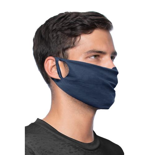 Man wearing a unisex rib face mask