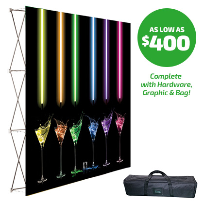 90x90 Fabric Pop-up Display System