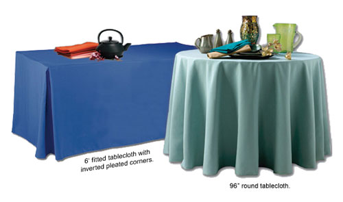 Unprinted Tablecloths - poly Poplin