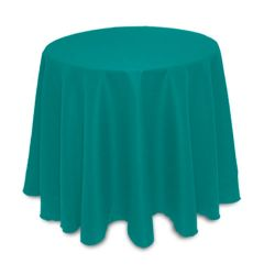 "non printed 84"" round tablecloth"