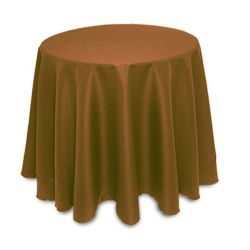 "non printed 114"" round tablecloth"