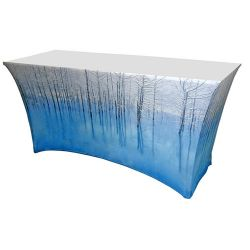 4 foot printed spandex table cloth