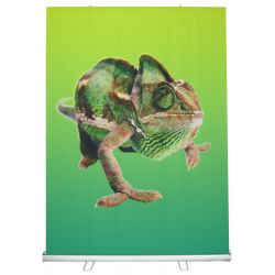 58x79 Roll up Fabric Banner Stand