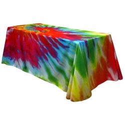 Fully Dye Sublimated 6' Table Throw