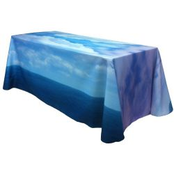 Fully Dye Sublimated 8' Table Throw