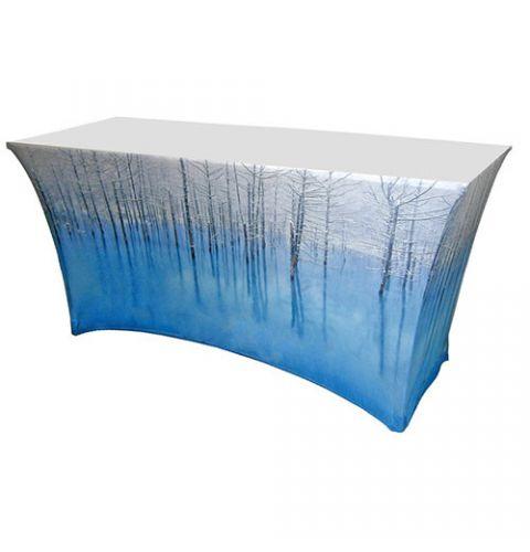 4 foot printed spandex table cloth
