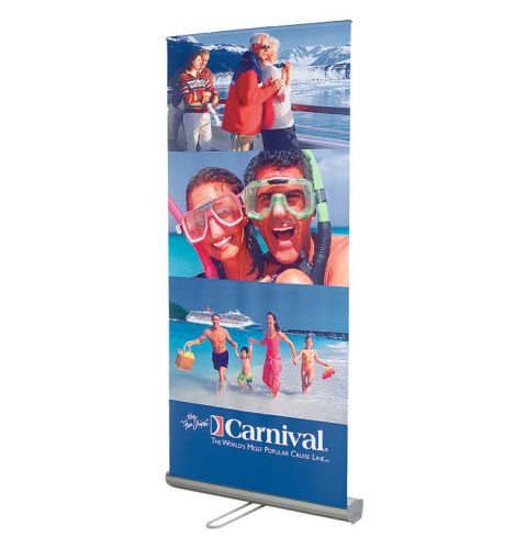 33x82 Roll up Fabric Banner Stand