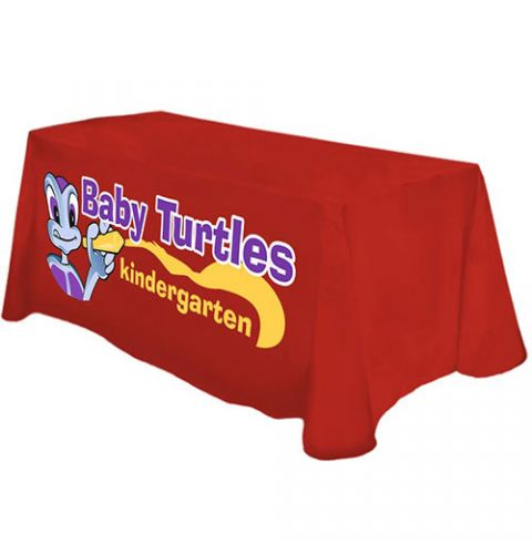 4 Foot Custom Printed Throw Tablecloth