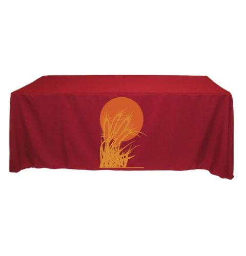 90 X 156 Throw Style 2 Color Screen Printed Tablecloth Corporate