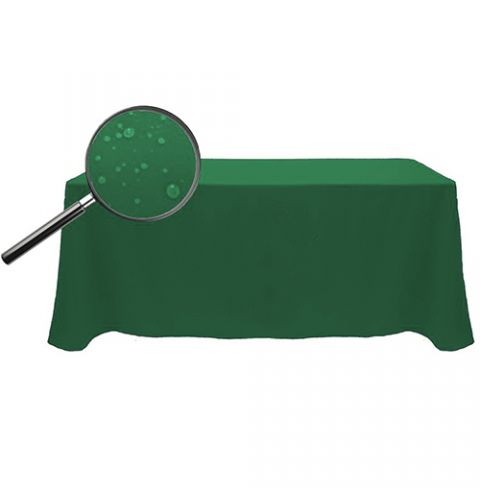 Water Resistant Unprinted 8' Fitted Tablecloth