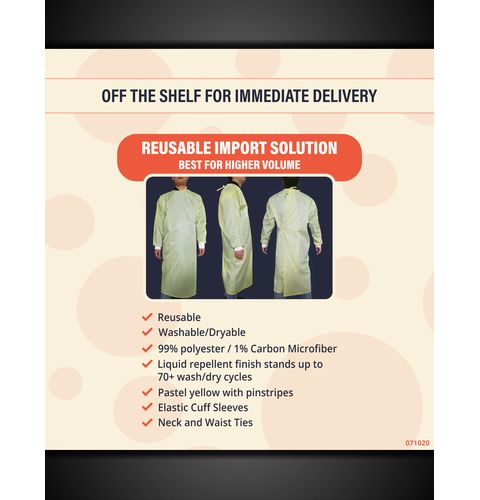 Imported Protective Gown