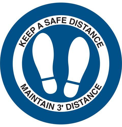 Circular Distancing Decal 3 foot version