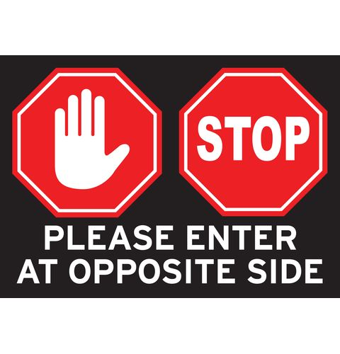 Stop One Way Aisle Floor Decal