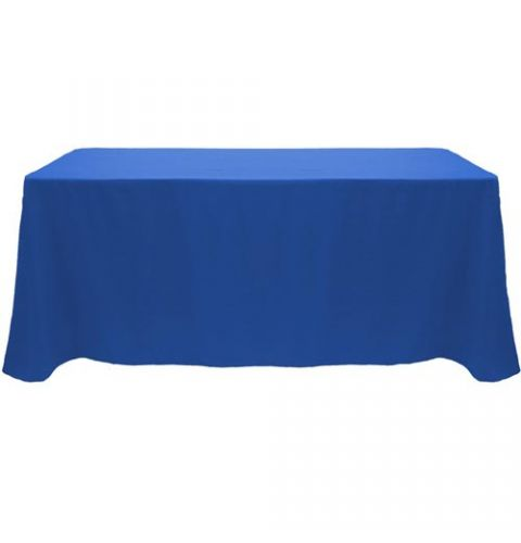 """4' non printed tablecloth 24"""" throw"""