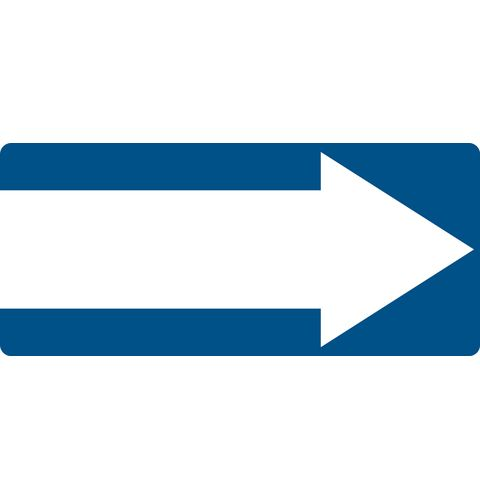 Rectangular 1-way Arrow