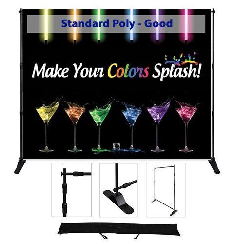72x96 adjustable display - poly